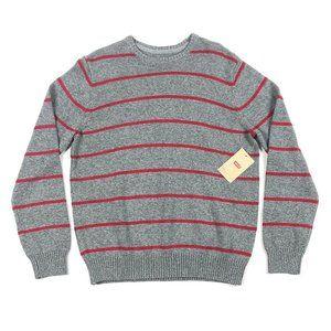 Levis Mens Striped Pullover Crewneck Sweater